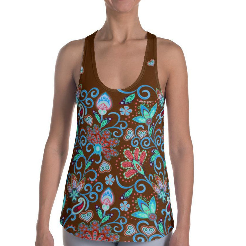 Abstract Floral Women's Tank Top - Thienna's Sweet Life