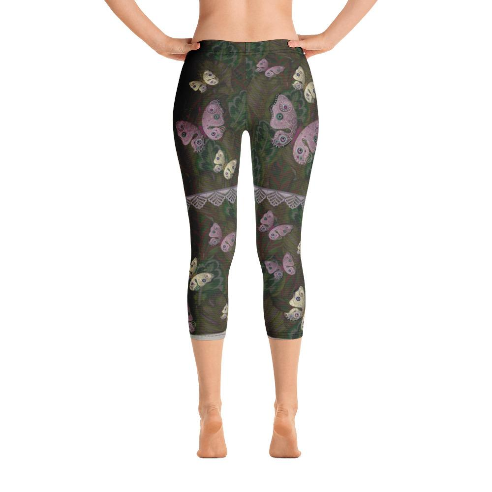 Beautiful Butterfly Capri Leggings - thiennas-sweet-life