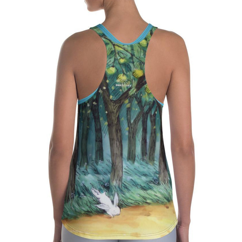 Happy Children Playing in Apple Orchard Women's Tank Top - thiennas-sweet-life