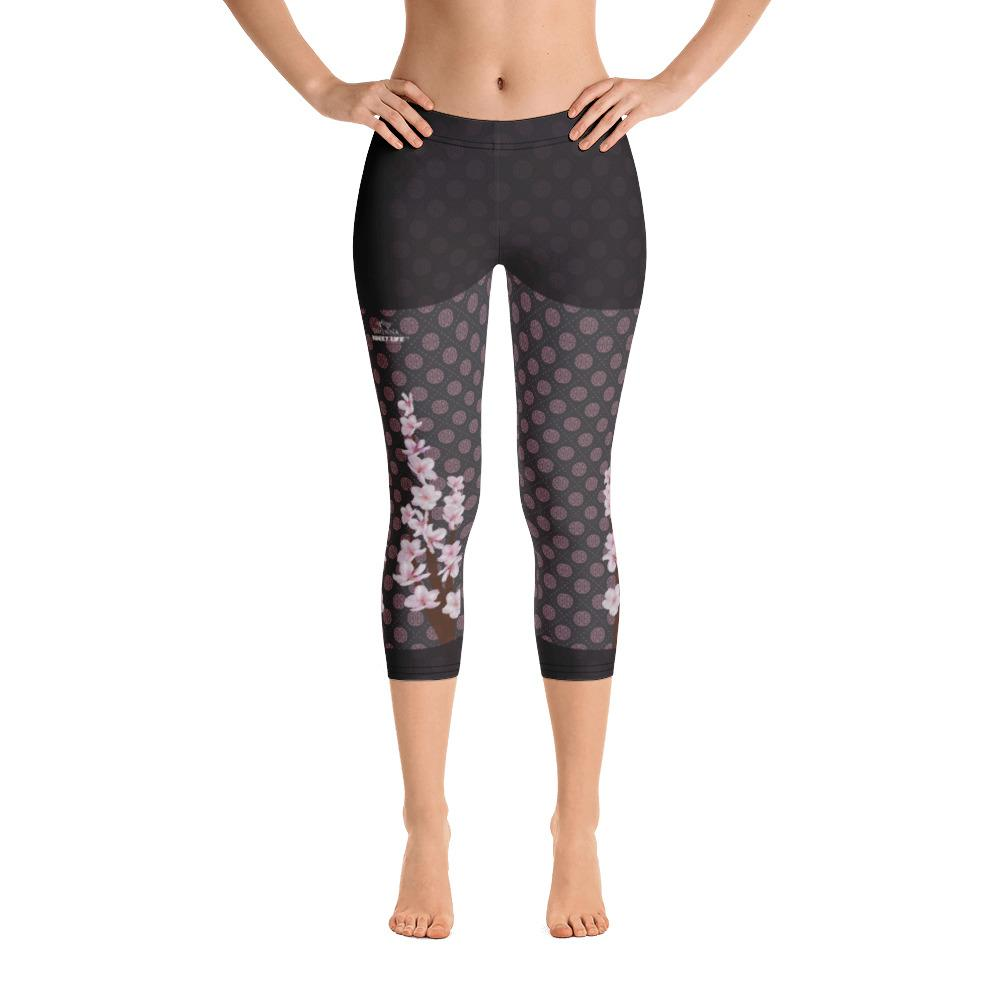 Apricot Blossoms Capri Leggings - thiennas-sweet-life