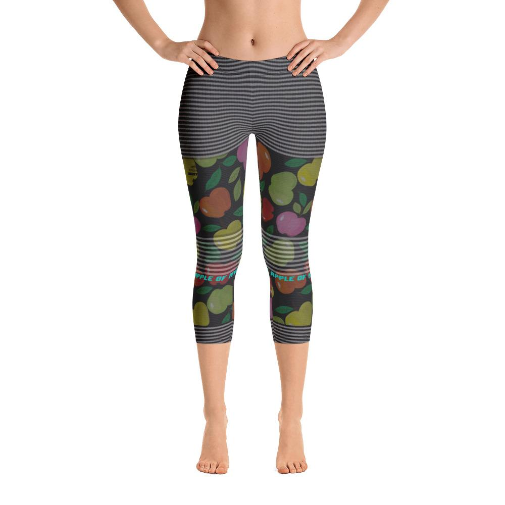 You Are The Apple of My Eye Capri Leggings - Thienna's Sweet Life