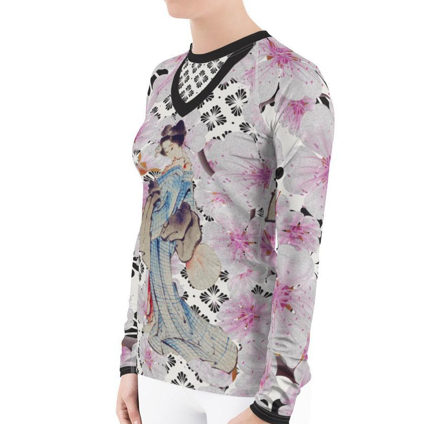 Beautiful Geisha Women's Rash Guard T-Shirts - thiennas-sweet-life