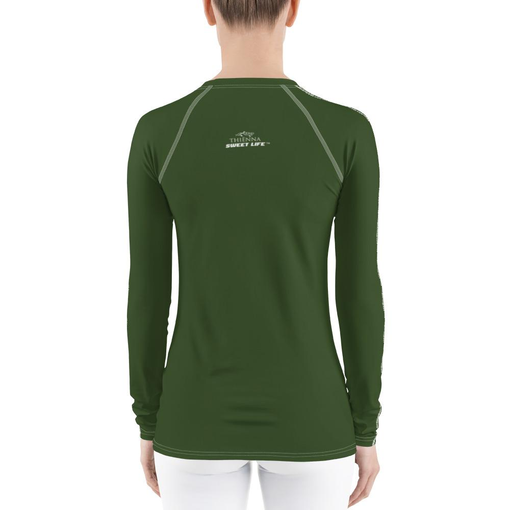 Lime Green Women's Rash Guard T-Shirts (Solid Color) - thiennas-sweet-life