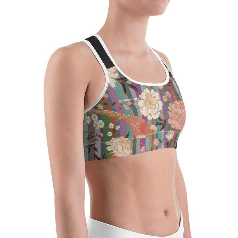 Floral Rainbow Print Sports Bras - Thienna's Sweet Life