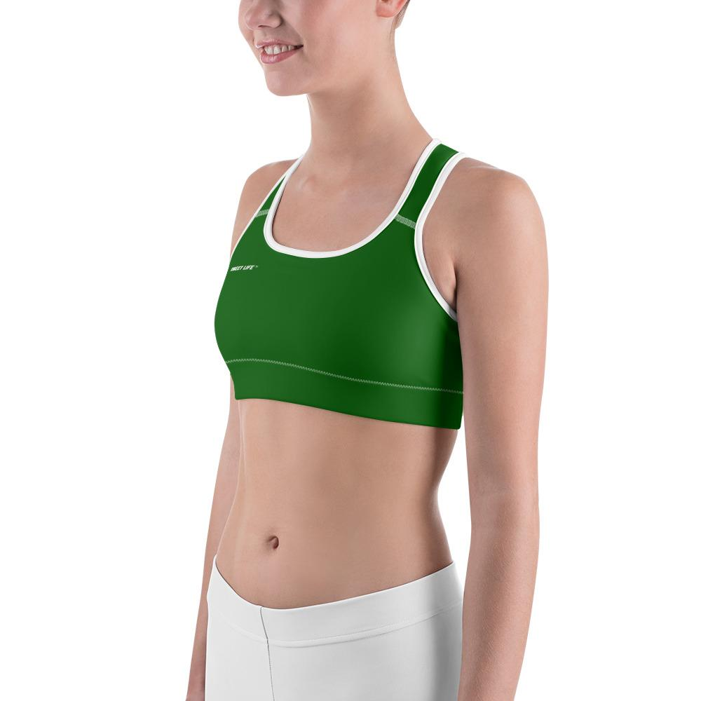 Hunter Green Sports Bras (Solid Color) - thiennas-sweet-life