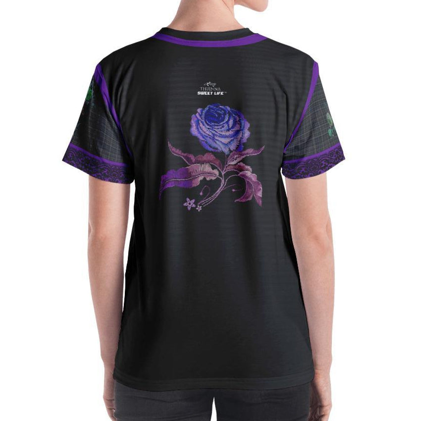 Purple Dragon Women's Crew Neck T-Shirt - Thienna's Sweet Life