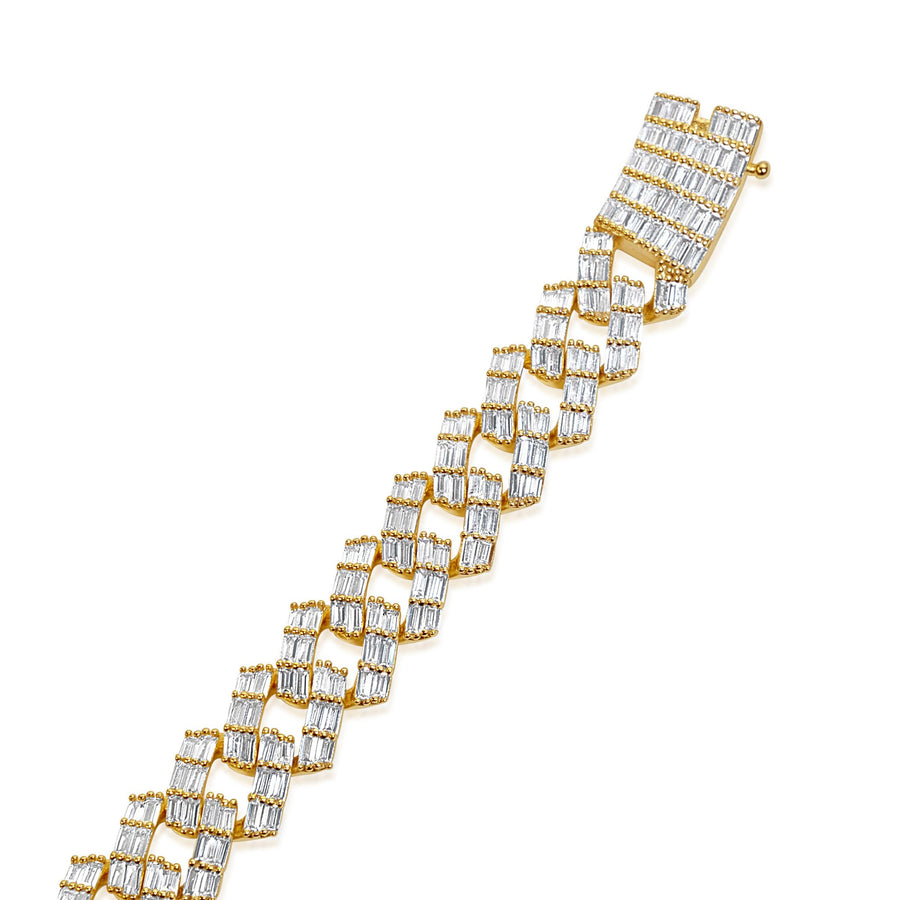 Diamanté 12MM Baguette Cuban Link