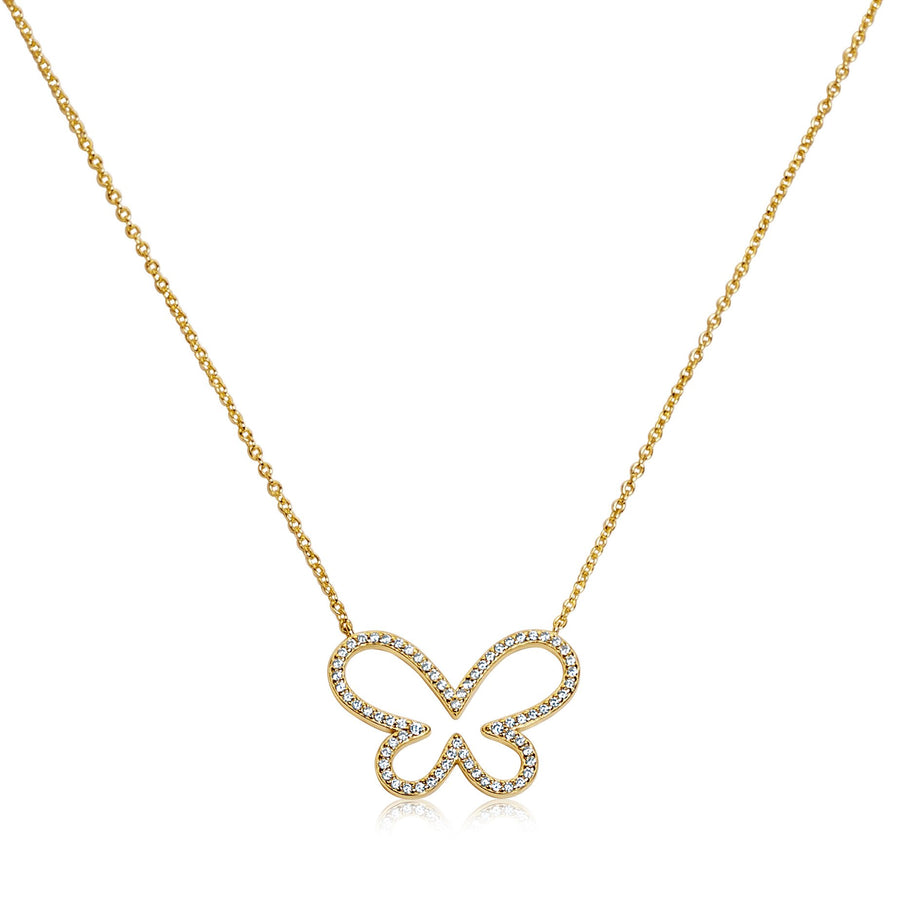 Adelina Diamond Butterfly Necklace