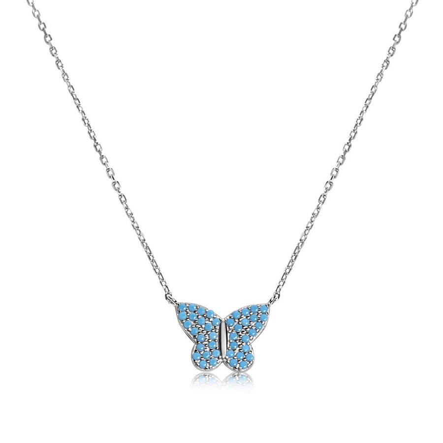 Baby Blue Butterfly Pendant
