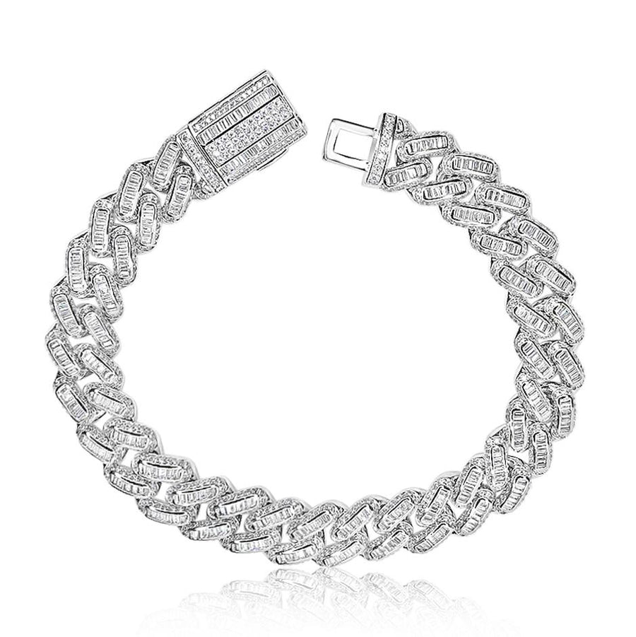 Cuban Baguette Anklet 12mm