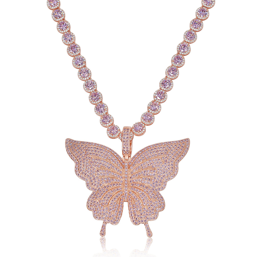 Radiant Rose Gold Butterfly