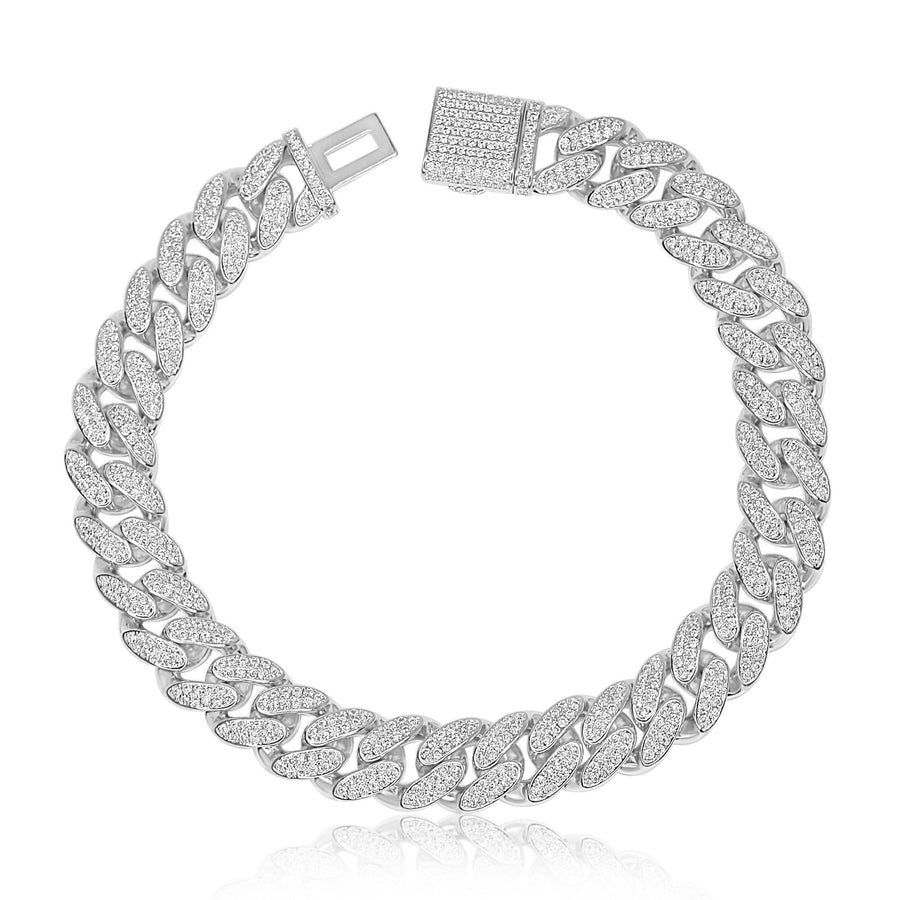 Silver Classic Cuban Anklet