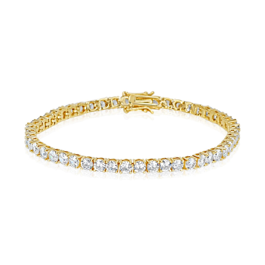 4 MM Yellow Gold Tennis Bracelet