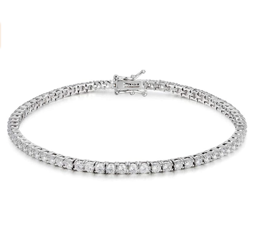 Sterling Silver 4mm Tennis Anklet