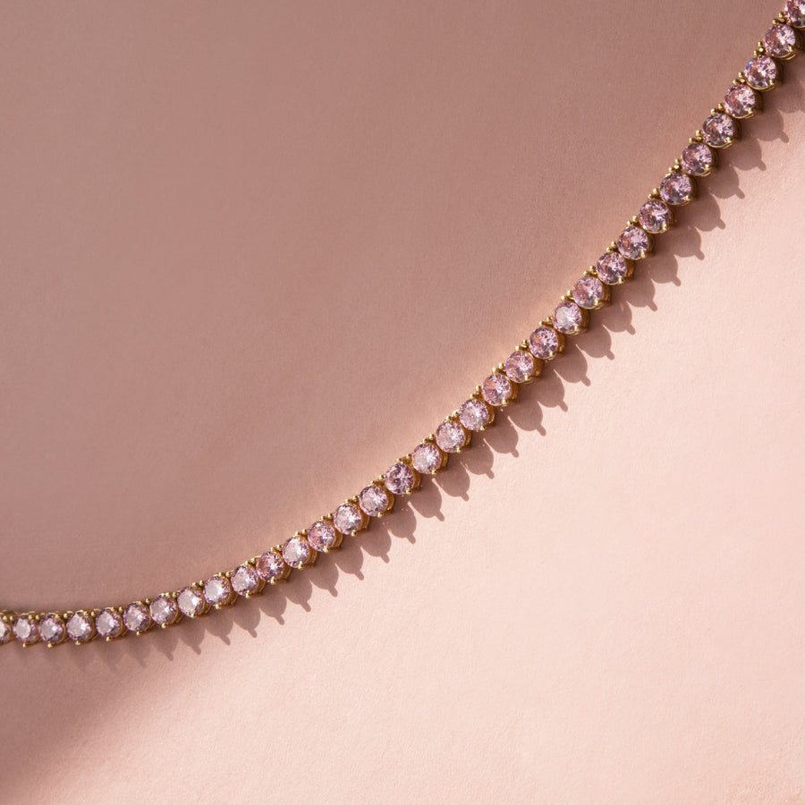 4mm Pink Tennis Chain