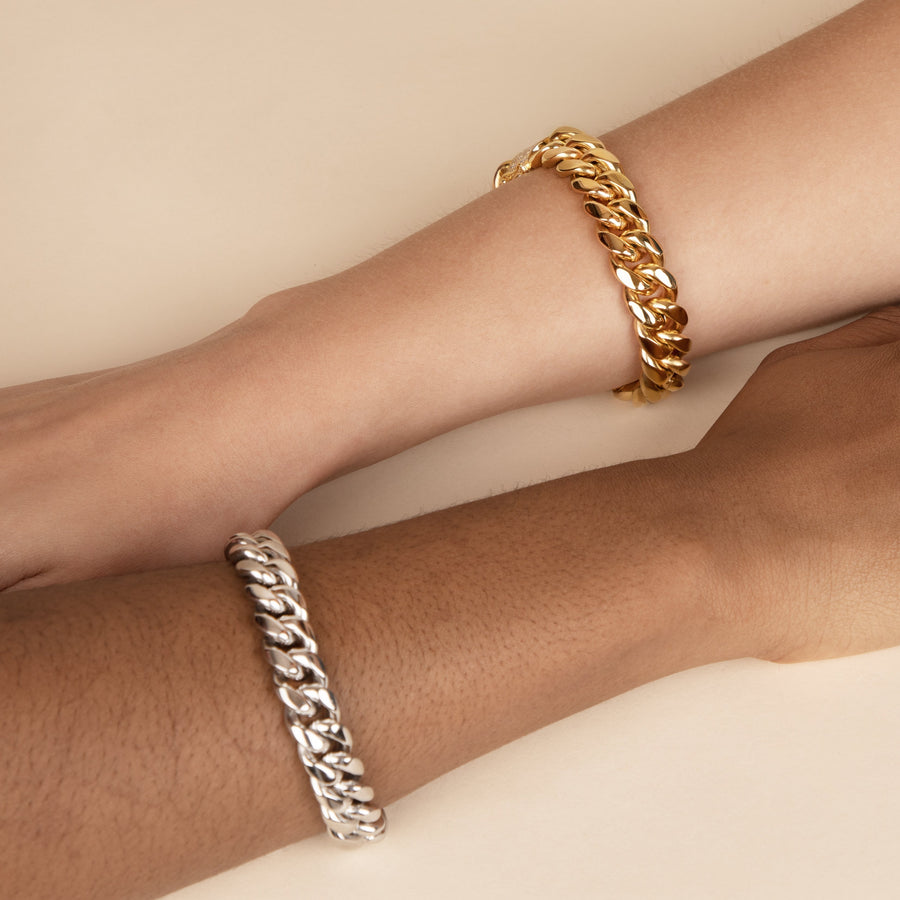 Gold Simple Cuban Bracelet