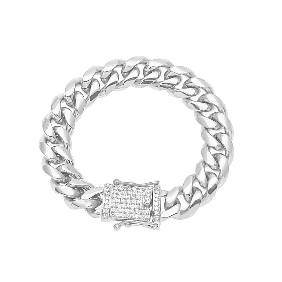 Silver Simple Cuban Bracelet
