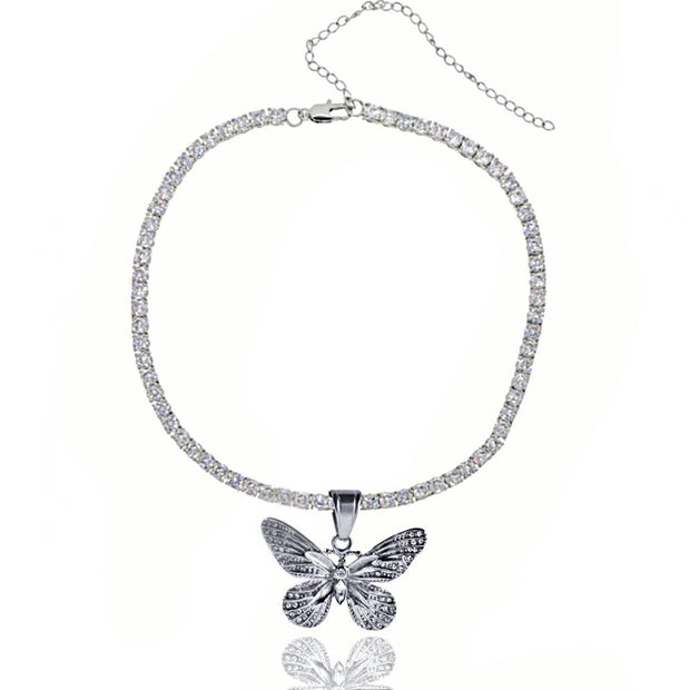 Butterfly Tennis Chain | Choker