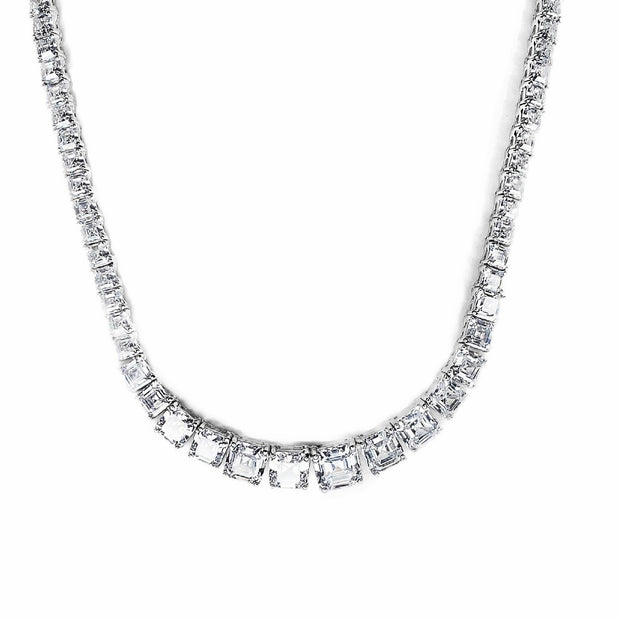 Graduated Emerald Cut Tennis Chain