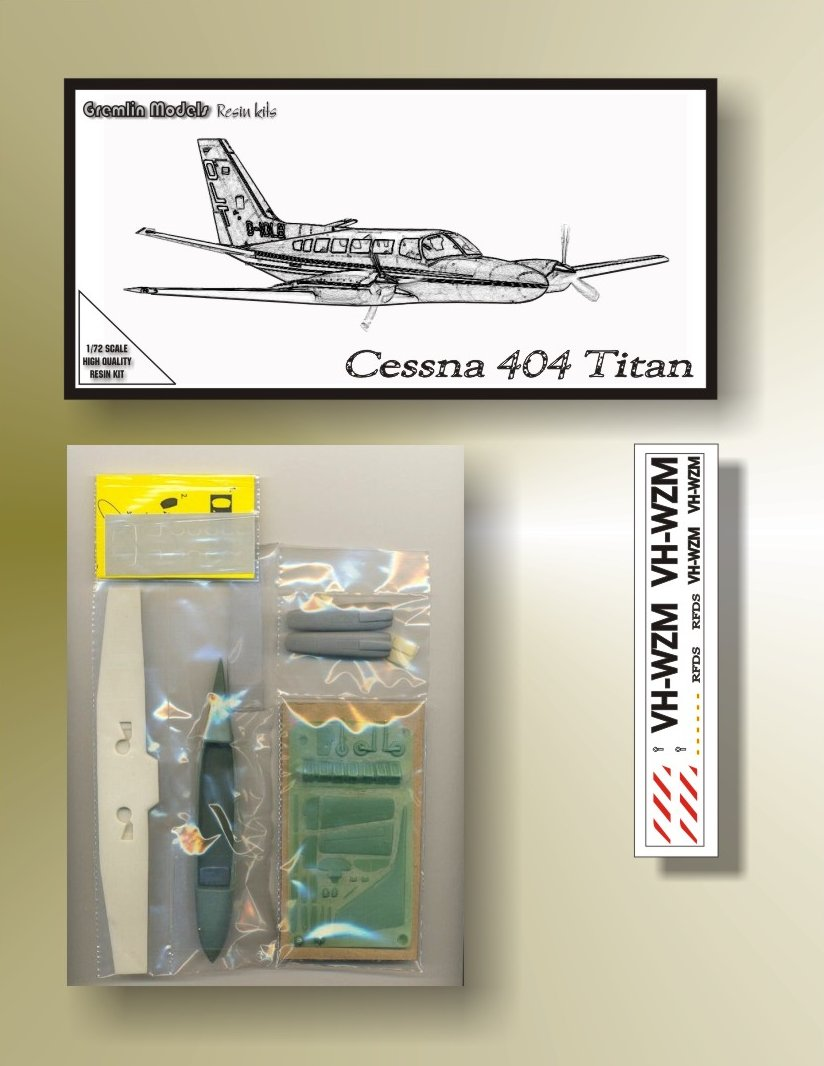 Cessna 404 Titan 1/72 Resin Kit by Gremlin