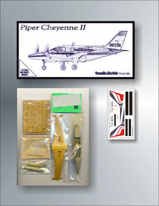 "Piper PA-31 T-620 ""Cheyenne II"" 1/72 Resin Kit by Gremlin"