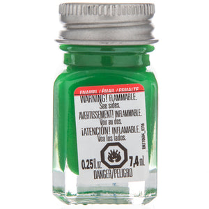 Green - 1/4 oz Enamel Gloss by Testors #1124