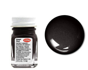 Black - Metallic  -1/4 oz Enamel by Testors #1154