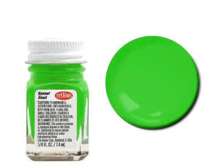 Green - Fluorescent -1/4 oz Enamel by Testors #1174
