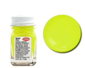 Yellow - Fluorescent -1/4 oz Enamel by Testors #1177