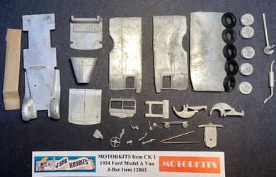 1934 Ford Model A Van 1/43  White Metal Kit