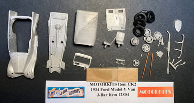 1934 Ford Model Y Van 1/43 White Metal Kit by Motorkits