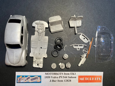 1959 Volvo PV544 Saloon 1/43 White Metal Kit by Motorkits