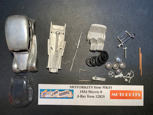 1934 Morris 8   1/43 White Metal Kit by Motorkits