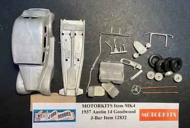 1937 Austin 14 Goodwood 1/43 White Metal Kit by Motorkits