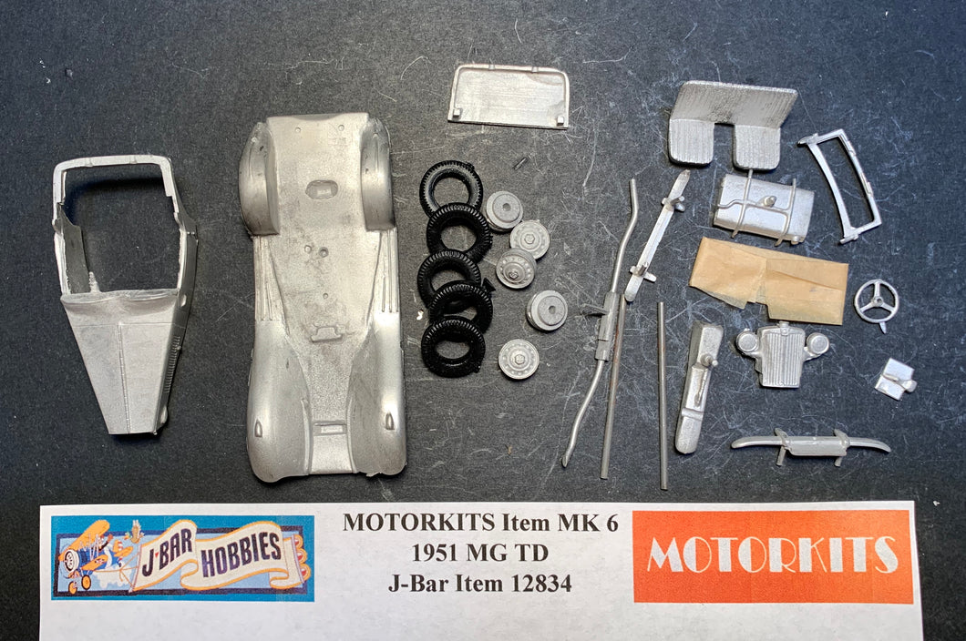 1951 MG TD White Metal Kit by Motorkits