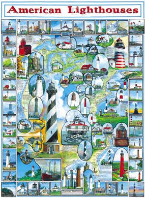 American Lighthouses - 1000 Piece Jigsaw Puzzle