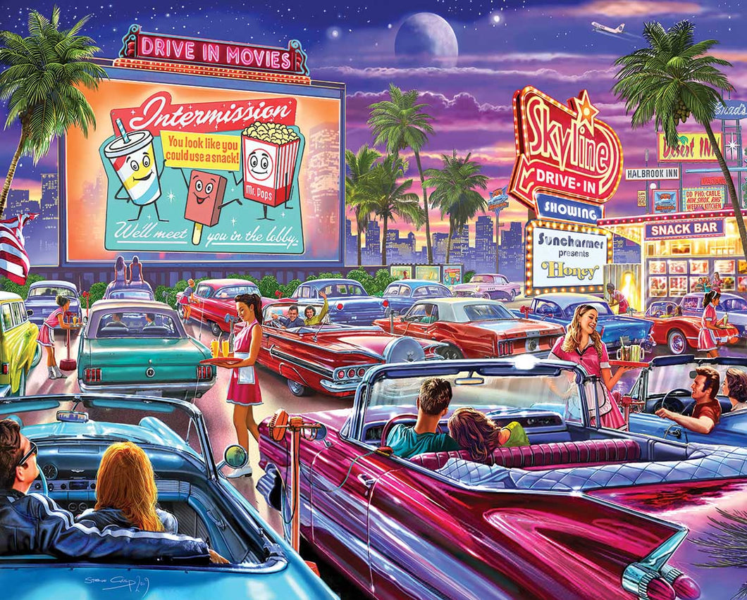 Drive-In Movie - 1000 Piece Jigsaw Puzzle