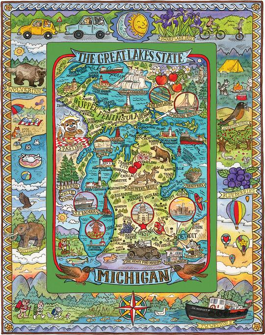 Michigan 1000 Piece Jigsaw Puzzle