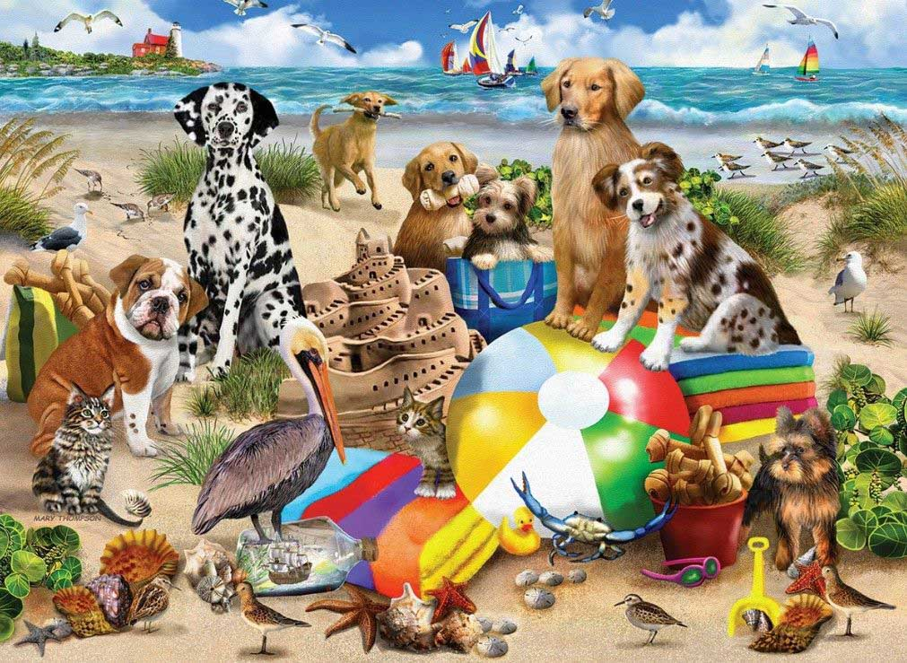 Beach Buddies - 550 Piece Jigsaw Puzzle