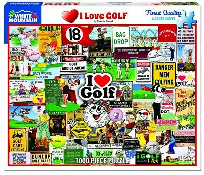 I Love Golf 1000 Piece Puzzle