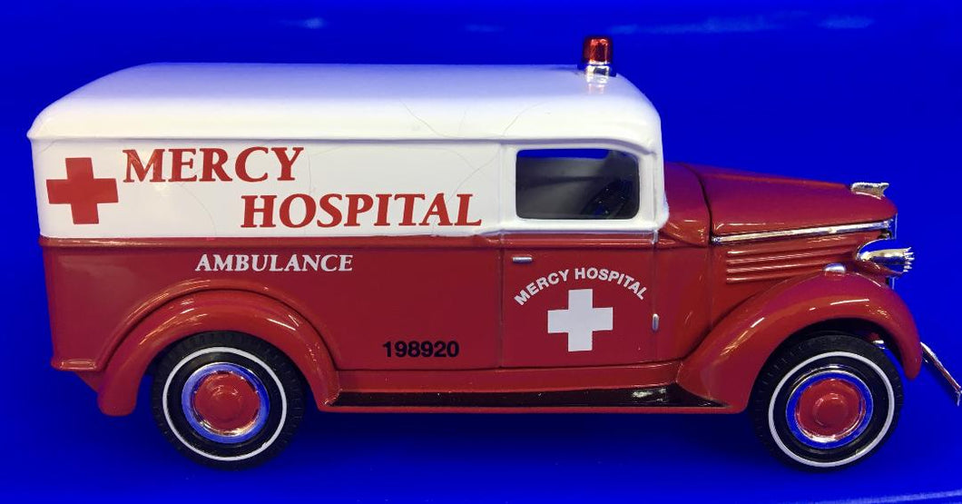 1937 GMC Mercy Hospital Ambulance  1/43 Scale