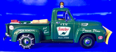 1954 Ford F-100 Sinclair snow plow truck  1/43 Scale