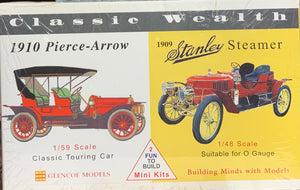 Classic Wealth 1910 Pierce Arrow and 1909 Stanley Steamer  1/56
