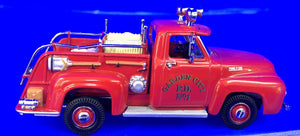 1953 Ford Pickup Fire Truck; Garden City FD; No1   1/43 Scale