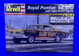 "Royal Pontiac ""GeeTO Tiger"" Super Stock 1966 Pontiac GTO Hardtop with Pre-Painted Resin Tiger Driver Figure"