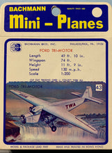 Load image into Gallery viewer, Bachmann Mini Planes #43 Ford Tri-Motor 1/200  1970's Issue