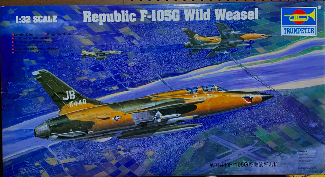 Republic F-105G Wild Weasel  1/32  2010 Issue