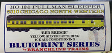 "Load image into Gallery viewer, 5310 Chicago North Western ""RED BRIDGE"" 12-1 Pullman Sleeper Kit"