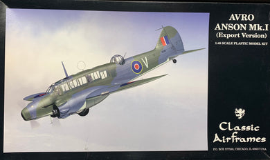 Avro Anson Mk.I (export version)  1/48