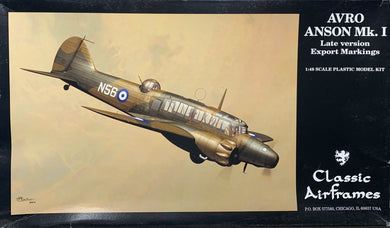 Avro Anson Mk.I Late Version Export Markings 1/48